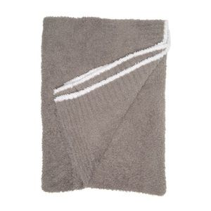 Barefoot Dreams Contrast Trim Throw Blanket 45x60
